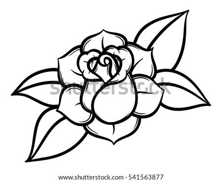 Flowers roses black white isolated on stock vector royalty free flowers roses black and white isolated on white background vector illustration mightylinksfo