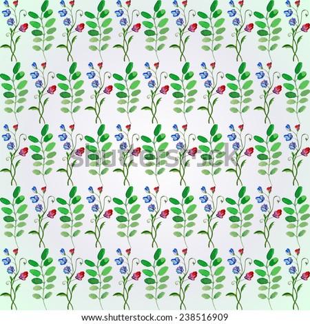 flowers seamless pattern - vector illustration - stock vector