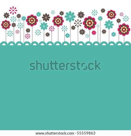 Flowers. vector illustration - stock vector