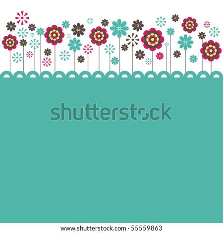 Flowers. vector illustration - stock vector