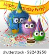 Fluffy family birthday picture - stock