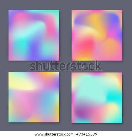Fluid bright colorful backgrounds set. Design for greeting card, report, cover, book, print,poster,brochure,magazine. Vector template
