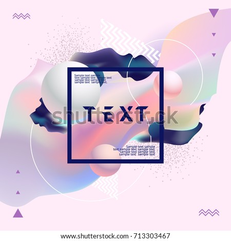 fluid poster design abstract color template stock vector 2018 713303467 shutterstock - Color Template