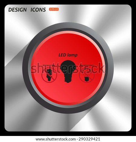 fluorescent lamp, LED lamp, incandescent bulb . icon. vector design