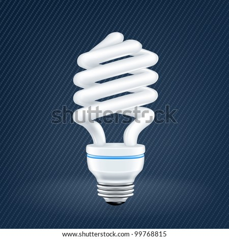 Fluorescent lamp, light bulb, mesh - stock vector