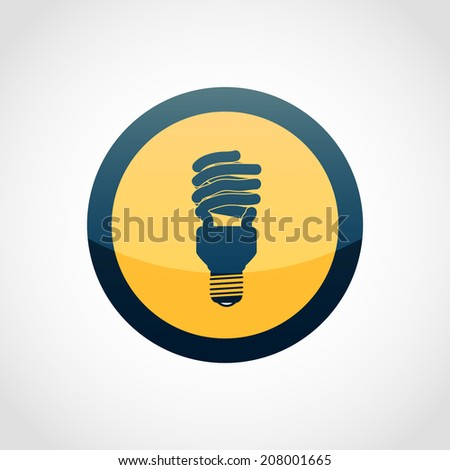 Fluorescent Light Bulb Icon Isolated on White Background