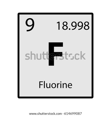 Fluorine periodic table element gray icon stock vector hd royalty fluorine periodic table element gray icon on white background vector urtaz