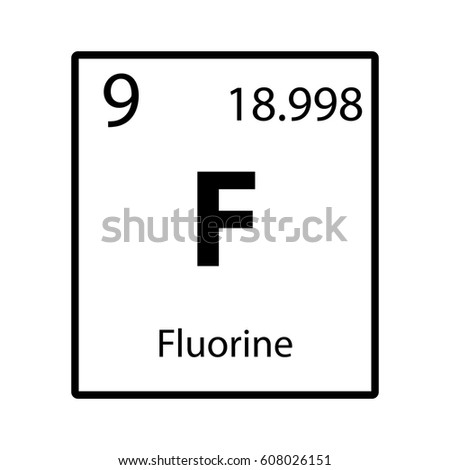 Fluorine periodic table element icon on stock vector 2018 fluorine periodic table element icon on white background vector urtaz