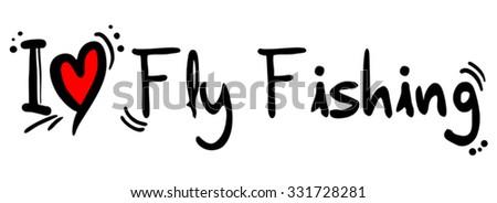 Fly Fishing love - stock vector