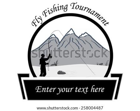 Fly Fishing Tournament Flyer Stock Vector 258004487 Shutterstock