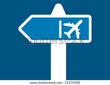 fly sign - stock vector