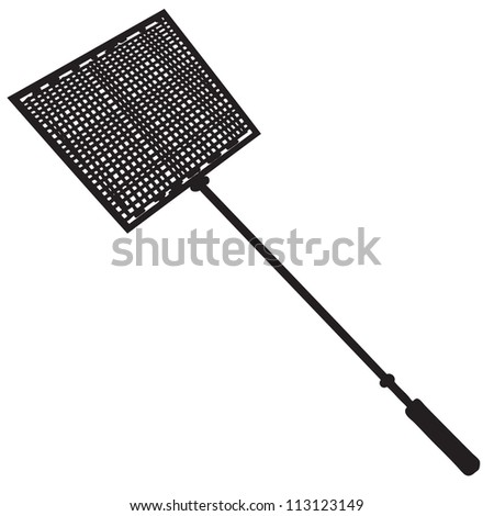 Fly swatter silhouette