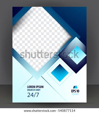Flyer Brochure, Cover Layout Design Print Template, Pamphlet Vector Letter  Format Illustration  Pamphlet Layout Template