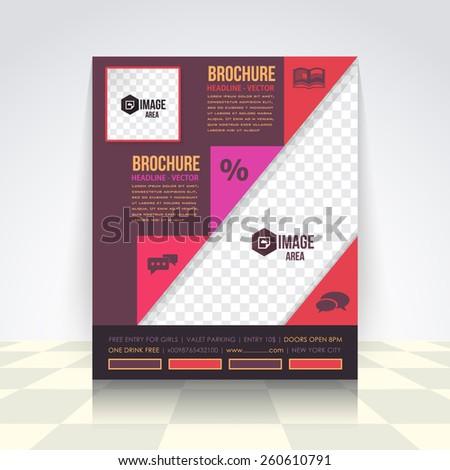 Flyer, Brochure Design. Corporate Leaflet, Cover Template - stock vector