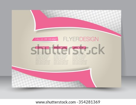 Flyer, brochure, magazine cover template design landscape orientation for education, presentation, website. Pink color. Editable vector illustration. - stock vector