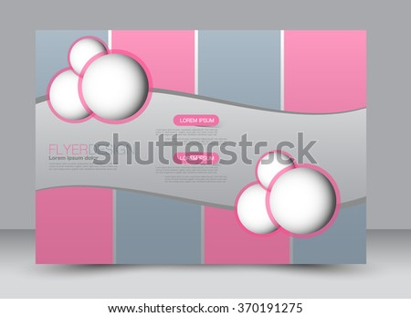Flyer, brochure, magazine cover template design landscape orientation for education, presentation, website. Pink and grey color. Editable vector illustration. - stock vector