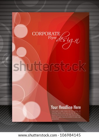 Flyer, brochure or cover design with creative wave for publishing, print and presentation. EPS 10. - stock vector
