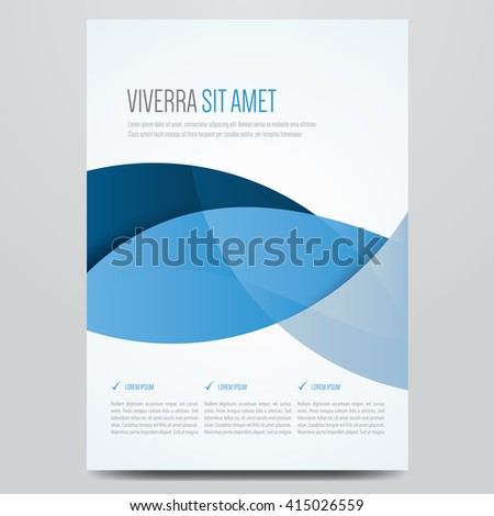 Flyer, brochure, poster, annual report, magazine cover vector template. Modern blue corporate design. - stock vector