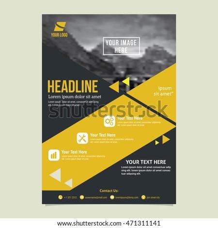 great brochure templates - flyer brochure design flyer size a4 stock vector 402400045