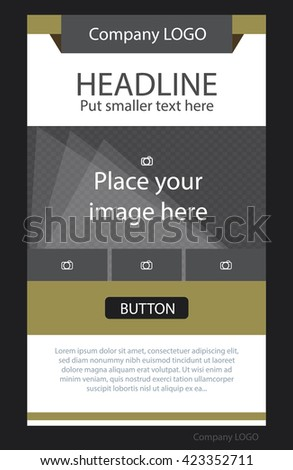 Flyer corporate vector layout template for business or non-profit organization - stock vector
