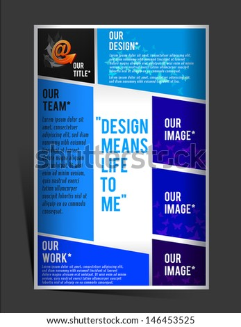 flyer design - stock vector