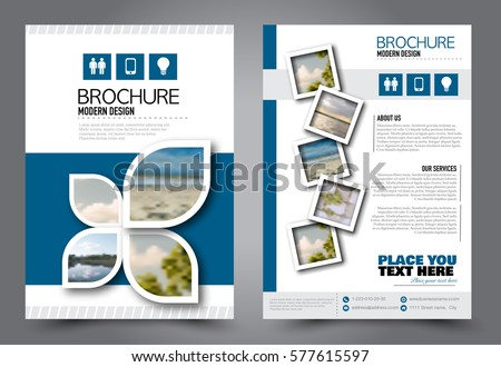 Flyer Design Business Brochure Template Annual Stock Vector 2018