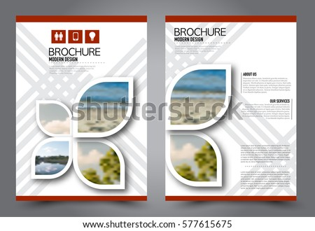Flyer design. Business brochure template. Annual report cover. Booklet for education, advertisement, presentation, magazine page. a4 size vector illustration. Red color.