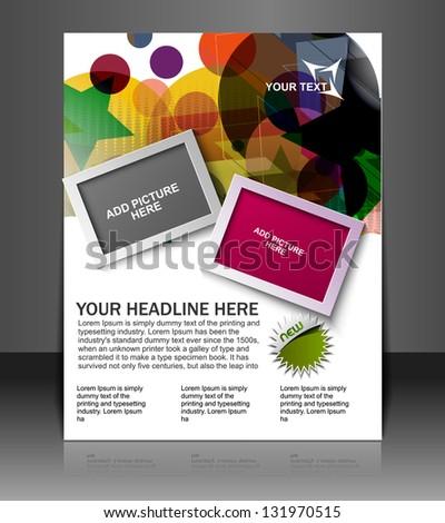 flyer design content background. - stock vector