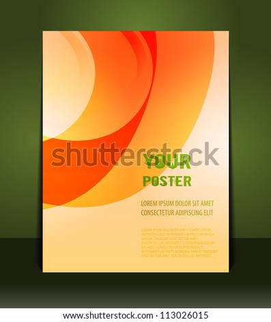 Flyer design content background. Design layout template - stock vector