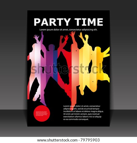 Flyer Design - Party Time - stock vector