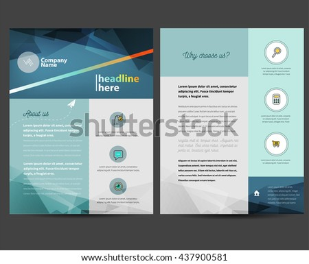 Flyer Design Template in letter size