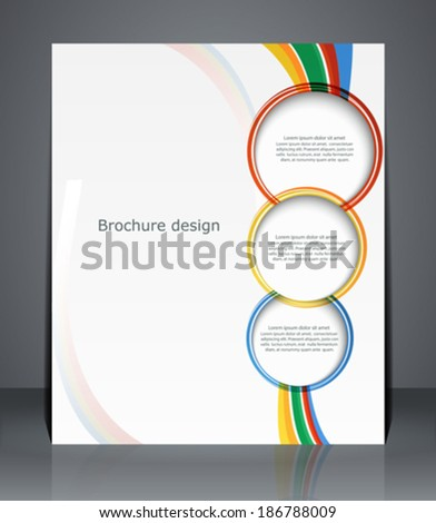 Flyer design, template, or a magazine cover with stripes.  Vector - stock vector