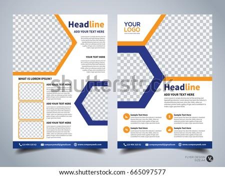 Flyer Design Template Vector Leaflet Design Stock Vector 665097577 ...