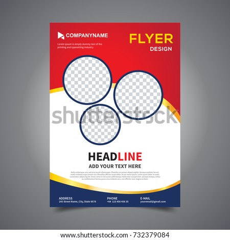 Flyer Design Template Vector Leaflet Design Stock Vector 732379084
