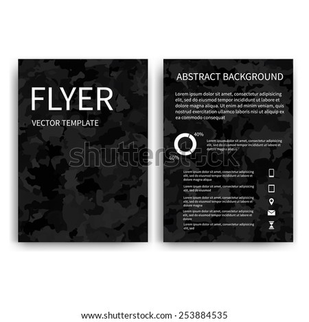 Vector brochure template layout a4 home stock vector for Black brochure template