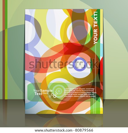 Flyer Design - Vector - stock vector