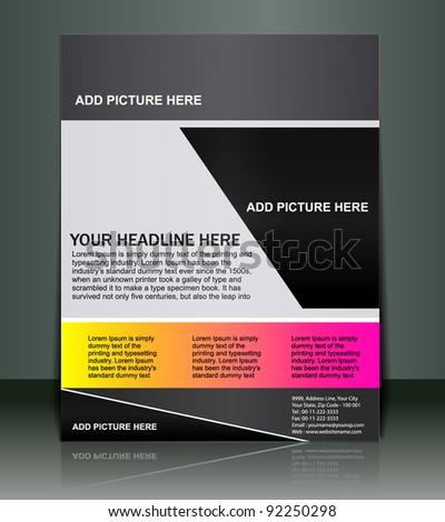 flyer design, vector illustration. - stock vector