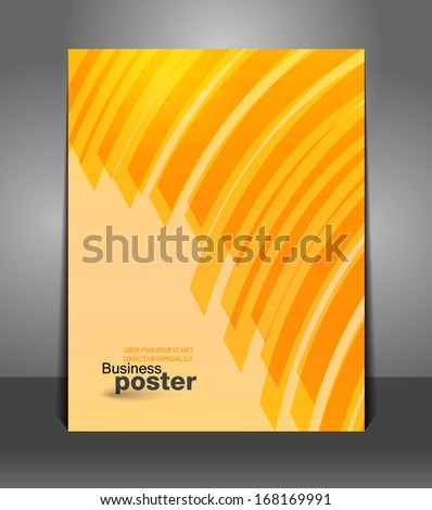 Flyer graphic design striped of business background  - stock vector