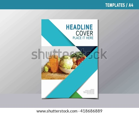 Flyer Leaflet Brochure Template A4 Size Stock Vector 420958429