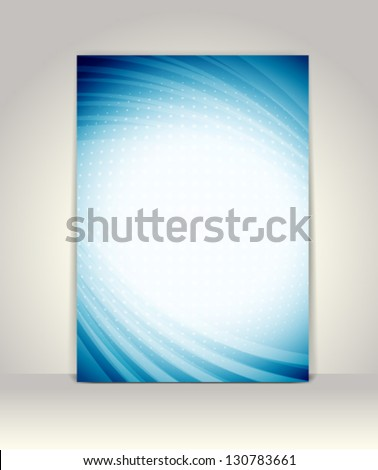 Flyer or brochure template, abstract technology design - stock vector