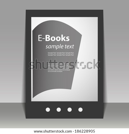 Flyer or Cover Design - E-Books - stock vector