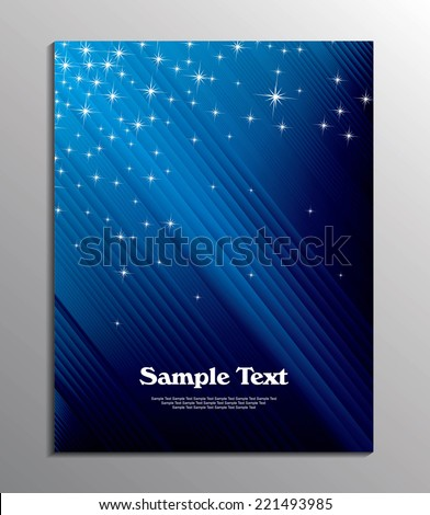 flyer or cover design / flyer template or corporate banner / Professional business flyer template or corporate banner/design for publishing, print and presentation - stock vector