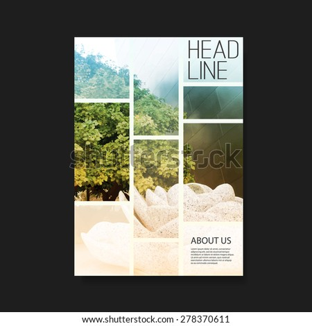 Flyer or Cover Design for Your Business - stock vector