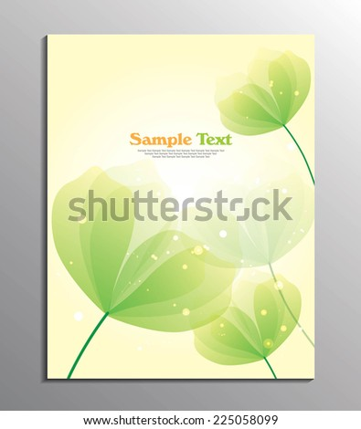 flyer or cover design / Vector background with pastel flowers