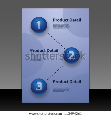 Flyer or Cover Design with Numbers - stock vector