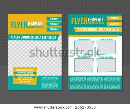 Flyer or cover template. - stock vector