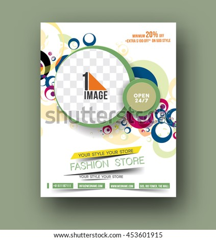 Flyer, Poster & magazine design Layout template in A4 size Vector  - stock vector