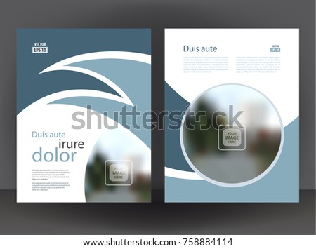 Flyer 2 Sided Brochure Cover Layout Design Stock Vector 758884114