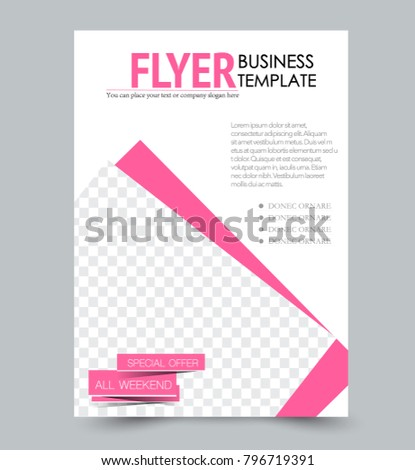 flyer template annual report book cover stock vector 796719391