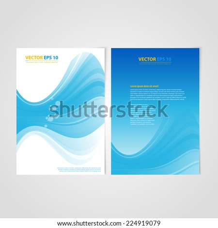Flyer template back and front design. Brochure design templates collection with bubbles - stock vector
